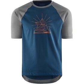 Zimtstern PureFlowz Camicia a maniche corte Uomo, blu/grigio